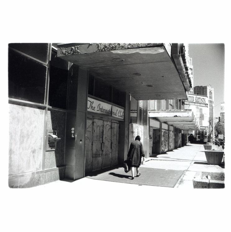 Broad street, Downtown Detroit Polaroid
